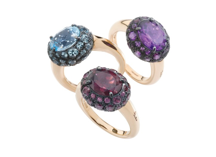 Pomellato's new gemstone rings.