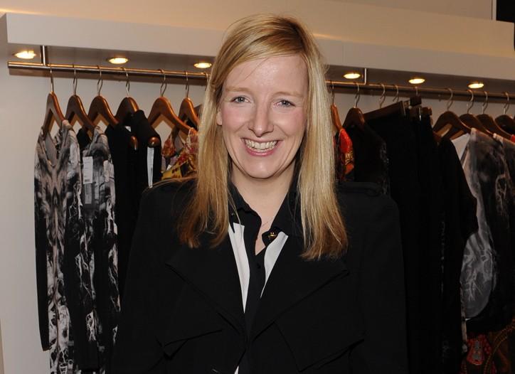 Sarah Burton in Saks' Alexander McQueen shop in New York.