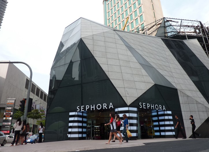 A view of the new Malaysia Sephora store.