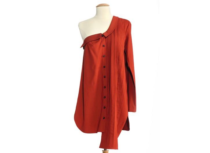 NAHM's asymmetrical wool twill shirtdress.