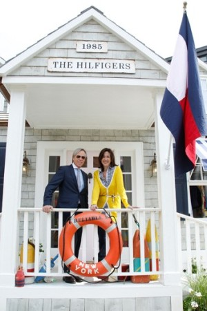 Tommy Hilfiger and Lisa Birnbach at the Prep World pop-up shot at 1 West Little 12th Street in New York.