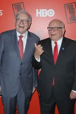 Warren Buffett and Ed Asner
