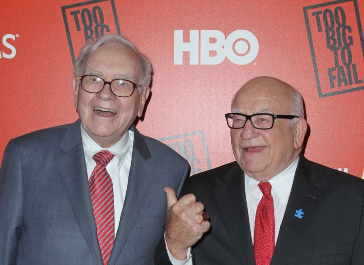 Warren Buffett and Ed Asner