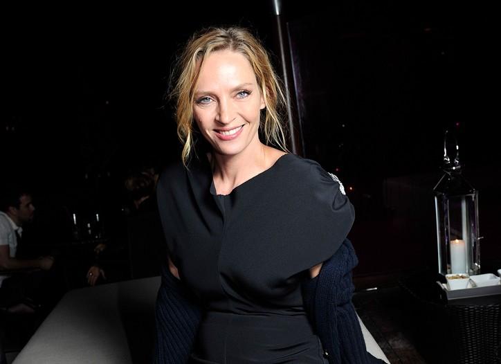 Uma Thurman in Calvin Klein Collection.