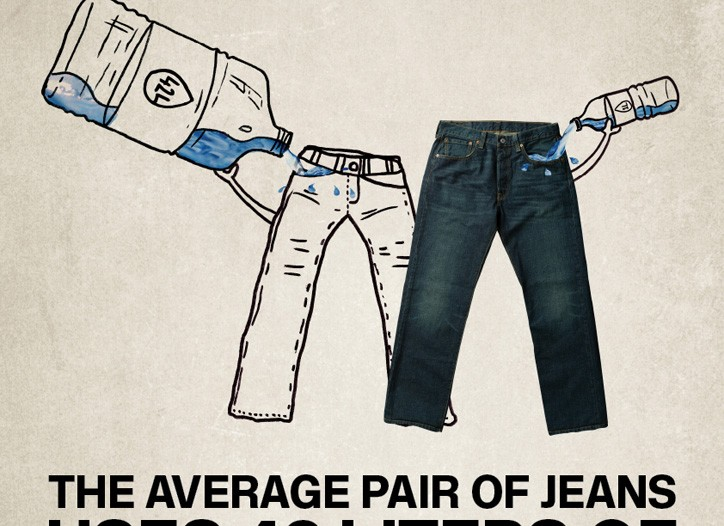 Levi's aims to reduce water usage in producing its jeans.
