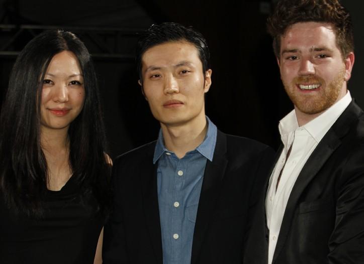 Parsons winners Serena Chang, T. Young Hwang and David Ferron