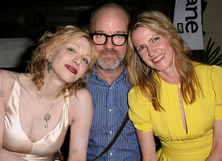 Courtney Love, Michael Stipe and Jane Pratt