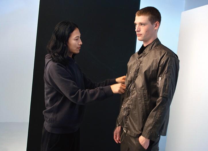 A behind-the-scenes glimpse at Alexander Wang's lookbook shoot.
