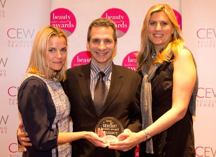 Blow co-founders Julie Flakstad, Stuart Sklar and Jen Denton at May's CEW Awards.