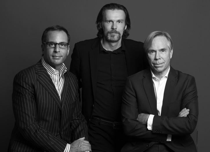 Harry Slatkin, Reinhard Mieck and Tommy Hilfiger.