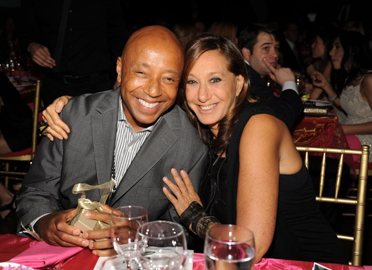 Russell Simmons and Donna Karan
