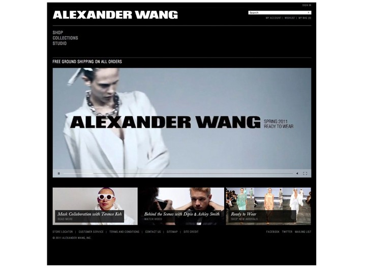Alexander Wang's Web site.
