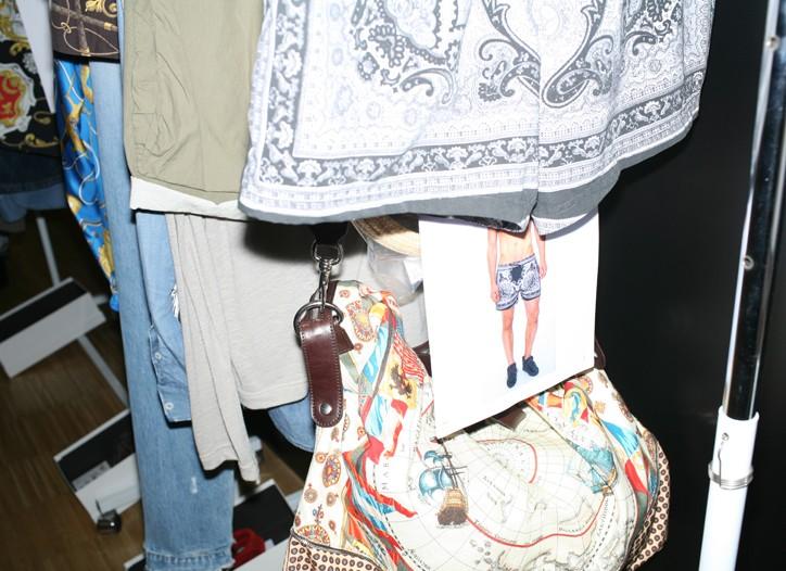 Backstage at D&G Spring 2012