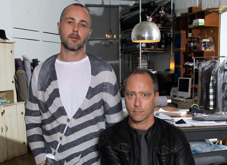 Designers Steven Cox and Daniel Silver in their New York studio.
