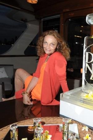 Diane von Furstenberg on board EOS.
