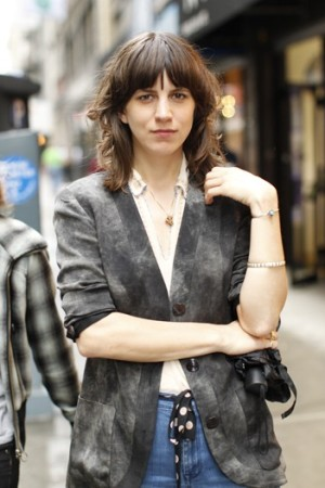 Eleanor Friedberger in a jacket by Vena Cava.