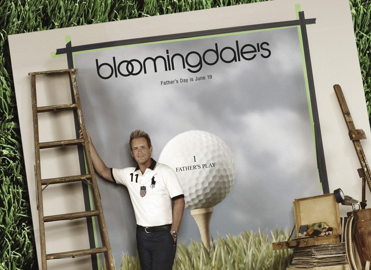 Golfer Luke Donald was featured on the cover of Bloomingdale's Father's Day catalogue.