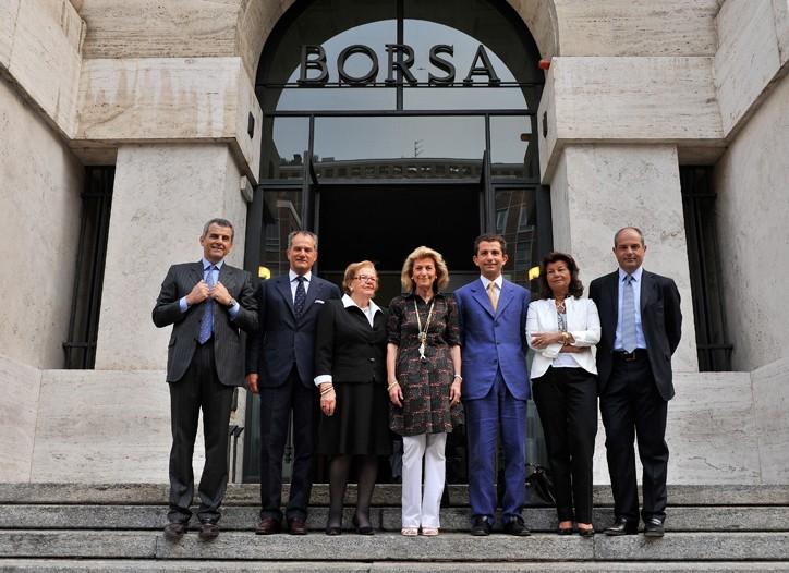 From left: Ferruccio, Leonardo, Wanda and Giovanna Ferragamo;  Diego di San Giuliano, and Fulvia and Massimo Ferragamo.