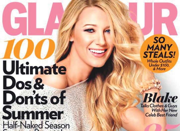 A Glamour cover featuring Blake Lively