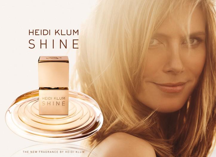 The ad for Heidi Klum's new scent, Shine.