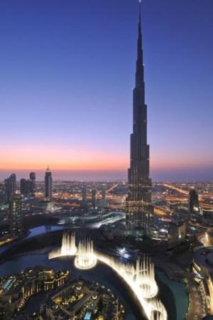 The Burj Khalifa tower in Dubai will house Giorgio Armani's first hotel.