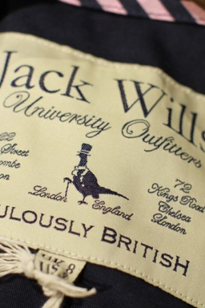 A detail of clothing at the Jack Wills store.