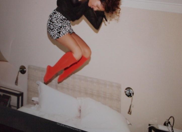 Christina, a fashion blogger, cavorts for Kmart.