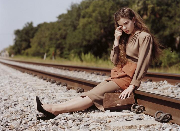 An ad visual from Miu Miu's fall-winter campaign.