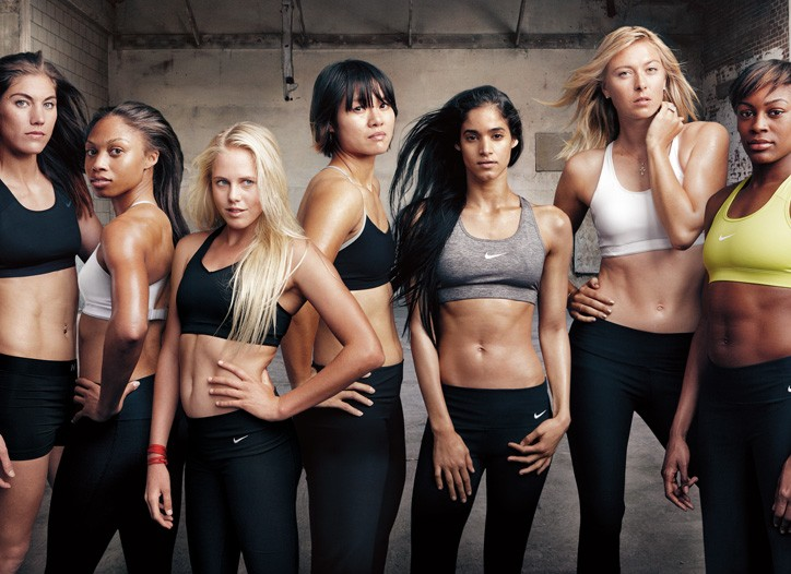 Nike's Make Yourself team shot by Annie Leibovitz.
