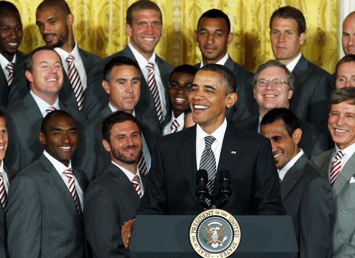 President Obama with the Colorado Rapids.