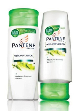 Pantene Pro-V's plant-based Nature Fusion packaging for Western Europe.