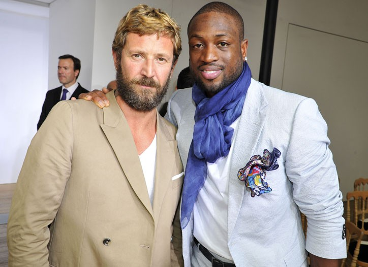 Stefano Pilati and Dwyane Wade