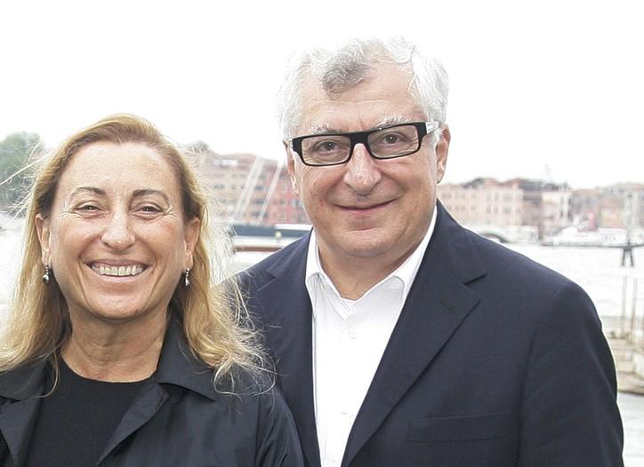 Miuccia Prada and Patrizio Bertelli