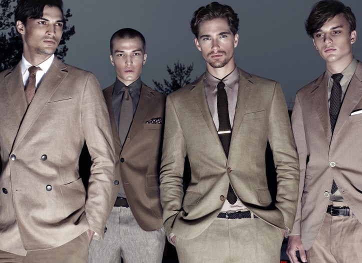 Tailored clothing for summer 2012 rejects year-round fabrics in favor of ultralight cotton and linen. These seasonal suits—and separates—may go bold with oversize chalk stripes or seersucker plaids, but the palette remains classic and subdued.