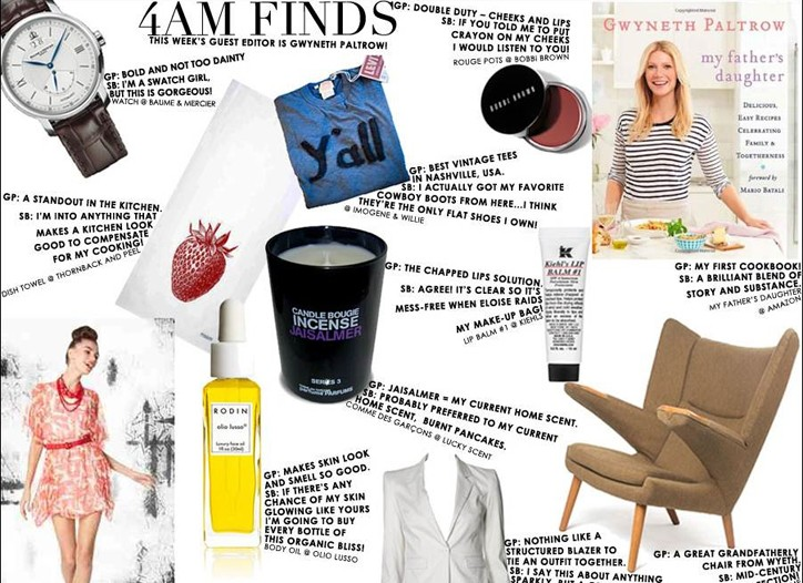 Alice + Olivia's 4AM Finds, edited by Gwyneth Paltrow.