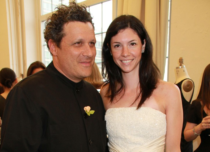 Isaac Mizrahi and guest Christine Fargnoli, dressed in his designs for The Aisle New York.