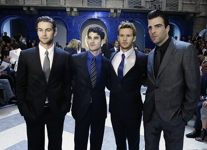 Chace Crawford, Darren Criss, Ryan Kwanten and Zachary Quinto