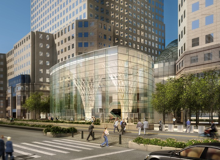 A rendering of the new World Financial Center.