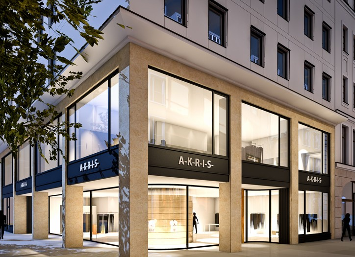 A rendering of the Akris store.