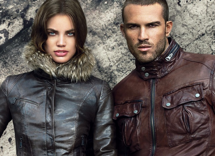 An ad visual from Andrew Marc's fall campaign, shot by Patrick Demarchelier.