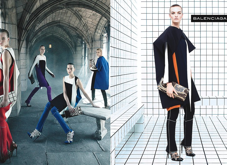 Balenciaga's fall campaign.