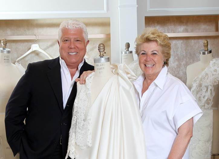 Dennis Basso and Mara Urshel at Kleinfeld.