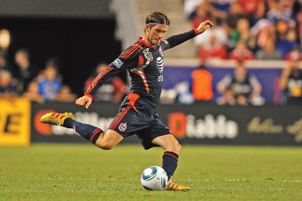 David Beckham in action for the MLS All-Stars.