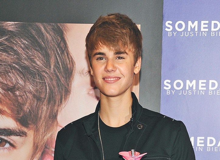 Justin Bieber at Macy's Herald Square.