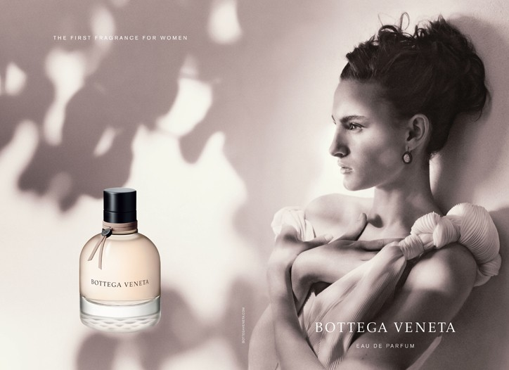 Bottega Veneta woman's perfume ad.