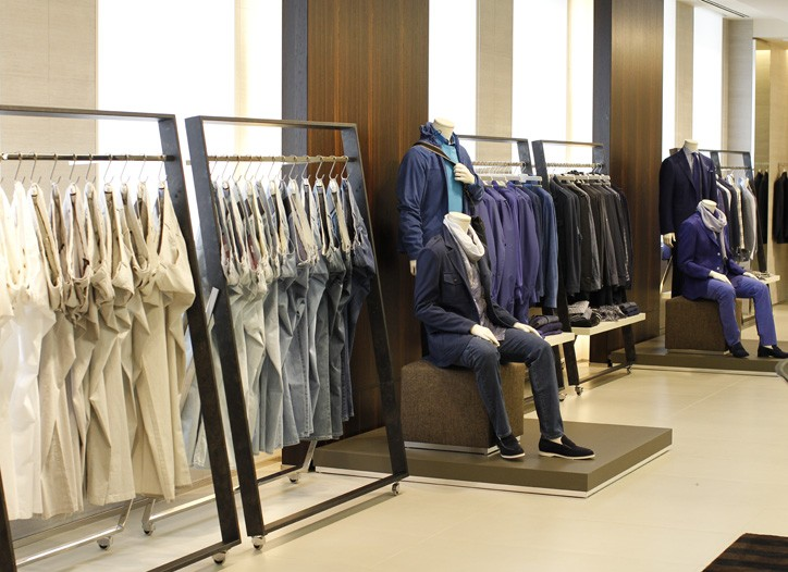 The Canali showroom spans 11,000 square feet.