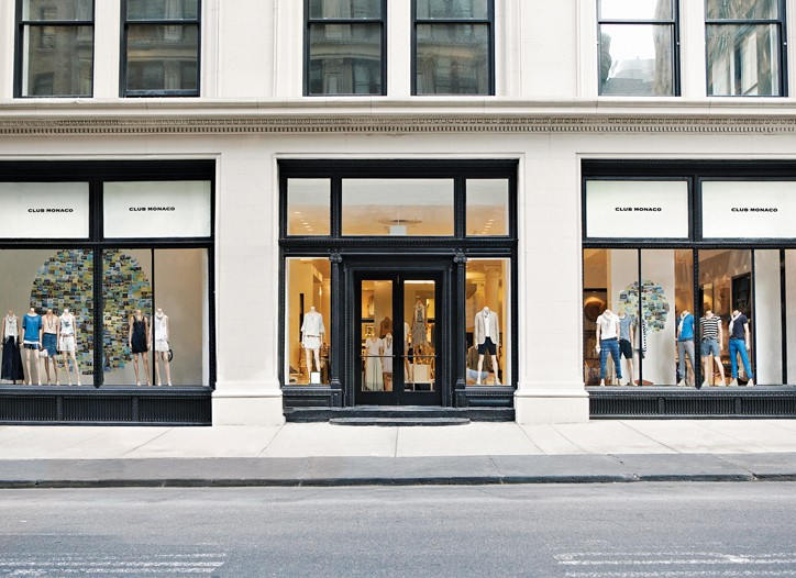 Club Monaco's Fifth Avenue flagship.