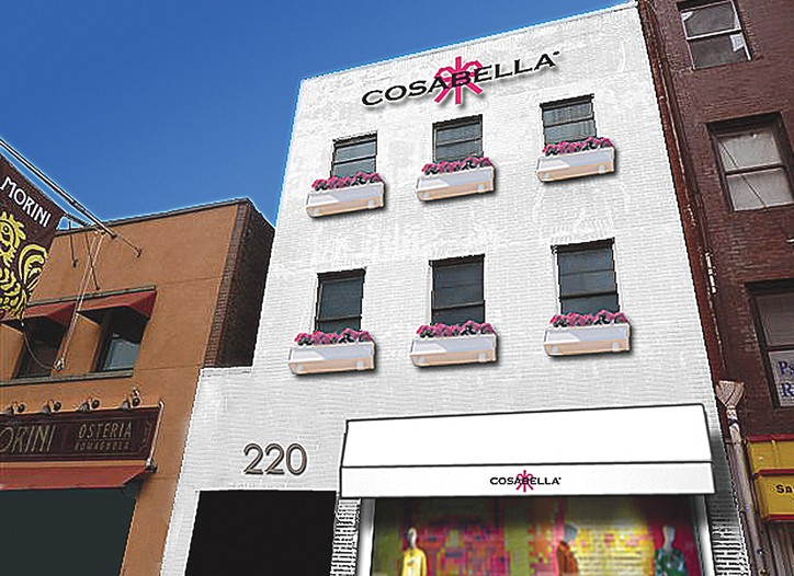 A rendering of the first Cosabella flagship in New York.