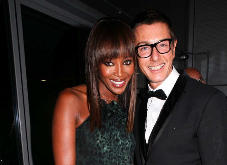 Naomi Campbell and Domenico Dolce