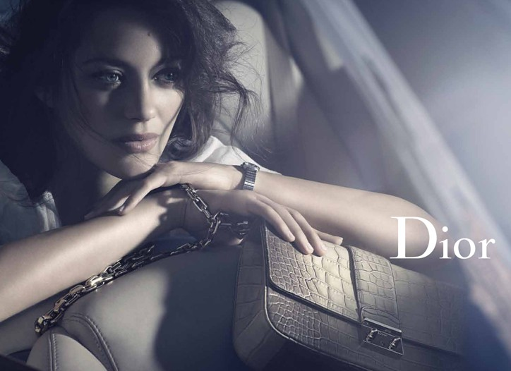 Marion Cotillard in the Dior ad campaign, shot by Mikael Jansson.